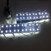 12V 4 LEDs SMD 5050 White Light Waterproof LED Module