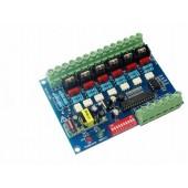 DMX-HVDIM-6CH-BAN 6ch DMX512 Decoder Dimmer Board