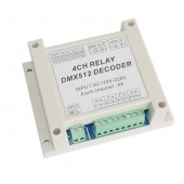 DMX-RELAY-4CH-220 Dmx512 Relays Decoder Led Controller