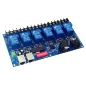 DMX-RELAY-6CH-30A 6CH Relay Switch Controller DMX512 Decoder