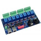 WS-DMX-RELAY-8CH 8CH Relay Switch DMX512 Decoder RGB Controller