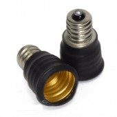 E14 to E12 LED Light Bulb Adapter Lamp Base Converter
