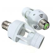 E27 Infrared PIR Motion Sensor Bulb Lamp Switch Holder Converter