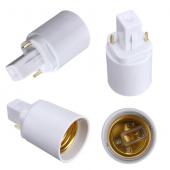 E27 To G24 Lamp Adapter Converter LED Bulb Socket Lamp Holder