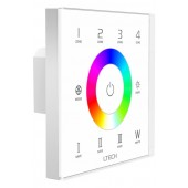 LTECH EX8S Wall Mounted LED Controller 2.4G 4 Zones RGBW Touch Panel