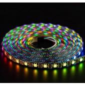 WS2812B RGB LED Strip Individual Addressable Light 60pixels/m DC 5V 5M