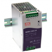 WDR-240 240W Mean Well Single Output Industrial DIN RAIL Power Supply