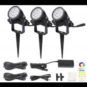 DC 24V Mi.Light FUTC08A 6W 2.4G RGB+CCT Waterproof LED Garden Light + Power Cable Kit Ourdoor Lighting Gear