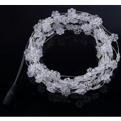 Snowflake Shape Copper Wire White String Fairy Lights 10M 100LED 12V
